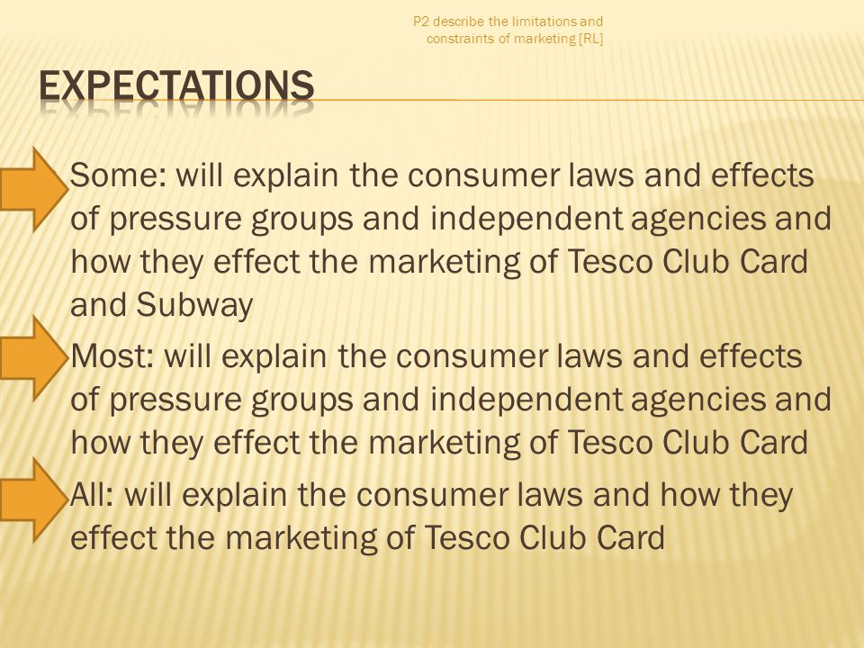 P2 describe the limitations and constraints of marketing [RL]